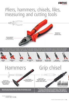 Pliers, hammers, chisels...