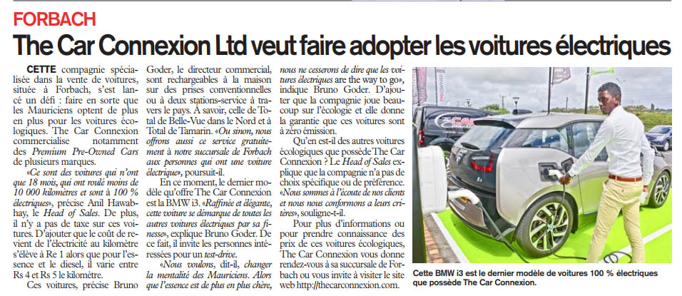 L'Express is talking about the Car Connexion!